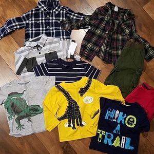 24m 2t boys outfit tops pants bundle flannel shirt